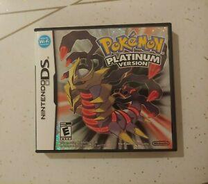 Pokemon Platinum (Nintendo DS, 2009) mint condition with case!