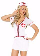 Sexy Nurse Costume Medium M Women Heart Role Play Halloween Cosplay White Dress