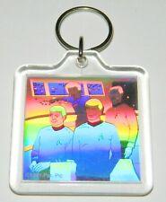 Classic Star Trek Spock With Bridge Crew Hologram Key Ring 1991 NEW LOOSE