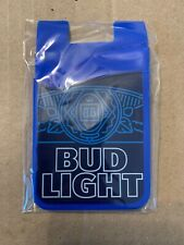 Universal Cell Phone Stick On Adhesive Wallet Bud Light Blue Credit Card Holder