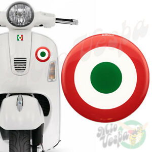 90mm Italian Air Force Red Target Mod 3D Decal domed sticker for Vespa GTS ET PX