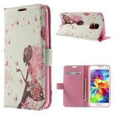 Protección bolsa funda flip cover f Samsung Galaxy Note Edge hada Lady pedrería blanco