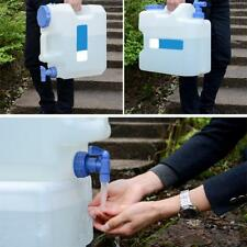 15L PLASTIC CAN WITH POURING TAP WATER CONTAINER CARRIER BOTTLE BUCKET-PORTABLE