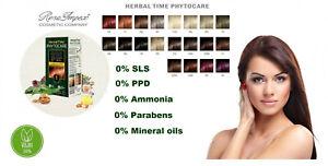 Nourishing Permanent Hair Color HERBAL TIME PHYTOCARE Natural Hair Dye Vegan