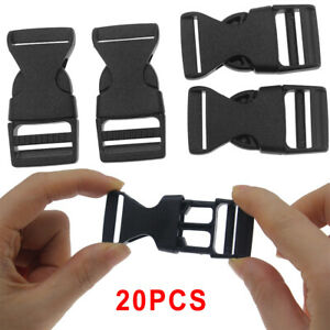 20PCS Plastic Strap Webbing Side Release Buckle 1 / 0.75 inch Size For Backpacks