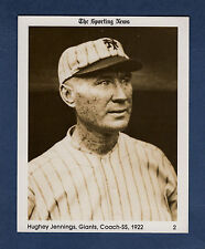 "#2 Hughie Jennings, 1922 Giants The Sporting News 1981 Conlon Collection 4""x 5"""