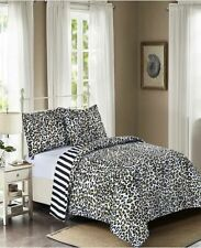 Leopard & Stripes Reversible 3-Pc. Comforter Set By Ellison First Asia Queensize