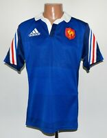 FRANCE NATIONAL TEAM 2014 HOME RUGBY UNION SHIRT JERSEY ADIDAS SIZE M ADULT