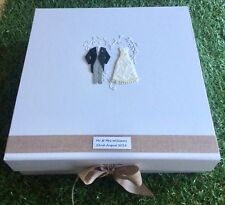 Luxury White Satin Traditional Wedding Photo Album with tissue sheets, Boxed set