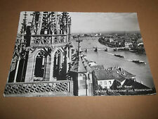 BASEL SWITZERLAND ~ B&W PHOTO POSTCARD POSTED 1965
