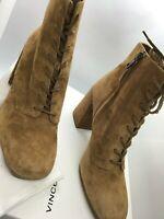 Vince halle cedar suede lace up ankle booties new with box $450
