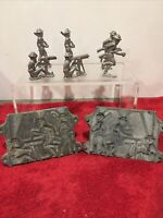 Lead WW 1 Soldier Molds Casting Set plus 6 figures 52X2 with handles