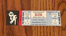 ELVIS CONCERT TICKET Nassau Coliseum Aug. 22, 1977