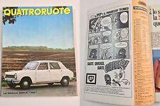 QUATTRORUOTE OTTOBRE 1967 - PROVA SIMCA 1200 S