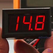 3pcs DC 0-30V Red LED 3-Digital Display Voltage Meter Voltmeter Panel Motorcycle