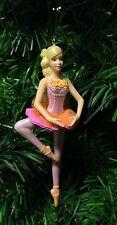 Hallmark Brava Barbie Ballerina in a Pink Tutu with Orange Christmas Ornament