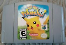 Hey You, Pikachu! (Nintendo 64 N64, 2000) Cart and Adapter Good Condition!