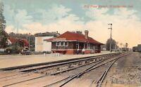 Postcard Big Four Railroad Depot in Winchester, Indiana~126604