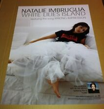 NATALIE IMBRUGLIA 2001 PROMO POSTER for White Lilies Island CD Never Displayed
