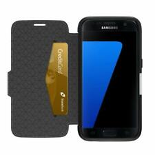 OtterBox Strada Leather Folio Case Samsung Galaxy S7 Onyx Black Easy Open Box
