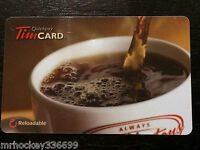 """2011 Tim Hortons (FD23042) """"Pouring FRESH Coffee"""" Collectible gift card DEFUNCT"""
