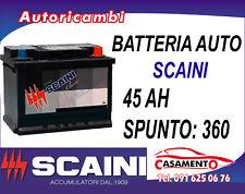 BATTERIA AUTO 45AH SCAINI 220x170x175mm -1 ANNO DI GARANZIA!