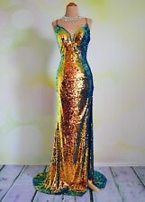 """Sequin PROM 2020 EVENING PAGEANT FORMAL BALL GALA DRESS WEDDING GOWN 4 """"Mirage"""""""