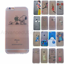 Disney Snoopy Stitch Spoof Case Slim Silicone TPU Cover For iPhone 5S/6S/7