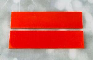 G10 Hunter Orange 150x35x6mm Scales for knife handle making/woodcraft/bushcraft