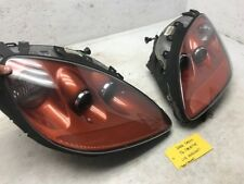 06 CHEVROLET CORVETTE C6 SUNSET ORANGE LEFT RIGHT COMPLETE OEM HEADLIGHTS LAMPS