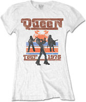 QUEEN 1976 Tour Silhouettes WOMENS GIRLIE T-SHIRT OFFICIAL MERCHANDISE