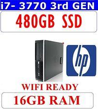 HP 8300 i7 3770 COMPUTER PC 480GB SSD 16GB RAM USB 3 HDMI 1GB GRAPHIC CARD WIFI