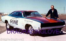 """Color Me Gone"" Roger Lindamood 1968 Dodge Charger NITRO Funny Car PHOTO!"