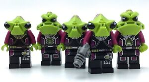 LEGO LOT OF 5 ALIEN CONQUEST SPACE IMONSTER MINIFIGURES WITH BLASTER