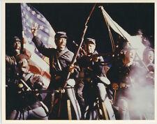 Glory 8x10 publicity photo Morgan Freeman Denzel Washington with flag