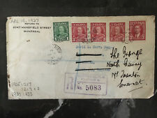 1937 Montreal Canada Cover to England  Forwarded