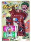 LIGHT UP BROWN FOREST MONKEY BUBBLE GUN WITH SOUND endless toy Maker machine