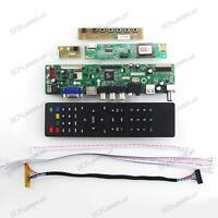 "TV HDMI VGA USB CVBS RF LCD Controller Board For 18.5"" M185XW01 V1~2 1366*768"