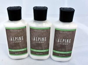 Bath and Body Works Alpine Suede Body Lotion for Men Lot of 3