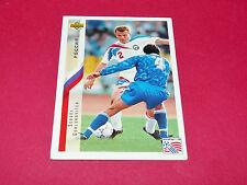 SERGEI GORLUKOVITCH RUSSIE FIFA WC FOOTBALL CARD UPPER USA 94 PANINI 1994 WM94