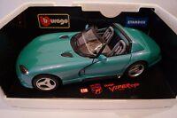 Burago Modellauto 1:18 Dodge Viper RT/10 1992 Standox Indianapolis green*in OVP*