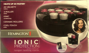 NEW! Remington Hot Rollers ~ 20 Ceramic H-5600 ~ Ionic Heat Curlers Hairstyle