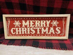 Farmhouse Christmas Decor Wooden Merry Christmas Sign