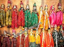 5 Pair of Rajasthani Indian Puppets Home Decorative Decor Marionettes Kathputli
