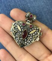 925 Sterling Silver Handmade Authentic Turkish Ruby Pendant