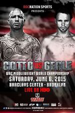 MIGUEL COTTO v DANIEL GEALE WBC MIDDLEWEIGHT TITLE PROMO POSTER