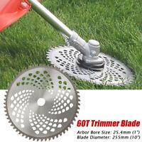 10'' 60Teeth Lawn Mower Grass Eater Trimmer Head Brush Cutter Weeds Blade Razor