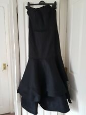 Coast Fabre Fishtail Maxi Dress Size 16 Black