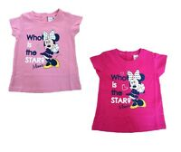 OFFICIAL DISNEY MINNIE MOUSE Girls Pink Top / T-Shirt 12 months - 3 years NEW