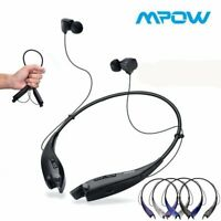 Mpow Jaws Gen-4 Bluetooth Headphone Neckband Wireless Headset Earbuds With Case